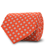 The Orange Truman Floral Tie