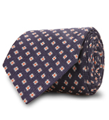 The Navy Truman Floral Tie
