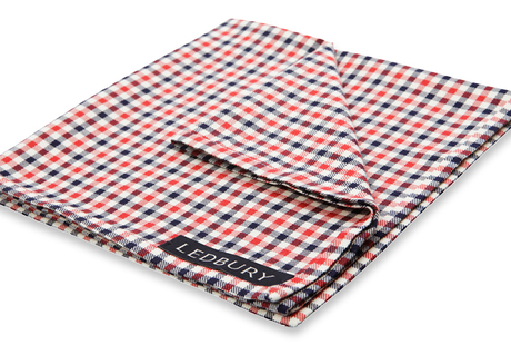 The Roosevelt Check Pocket Square