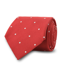 The Red Newton Dot Tie
