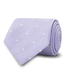 The Purple Newton Dot Tie