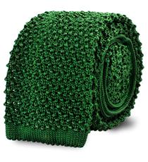 The Kelly Green Caden Knit Tie