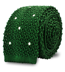 The Green Knit Newton Dot Tie