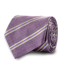 The Purple Wythe Stripe Tie