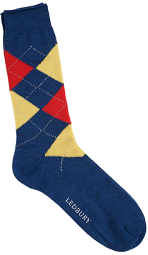 The Red and Yellow Layton Argyle Sock