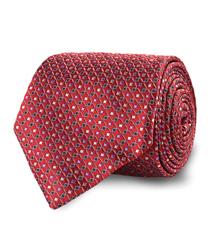 The Red Blume Silk Tie