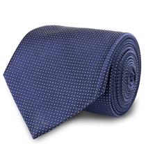 The Navy Barnett Pindot Tie