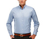 The Blue Oxford Slim Fit modelcrop