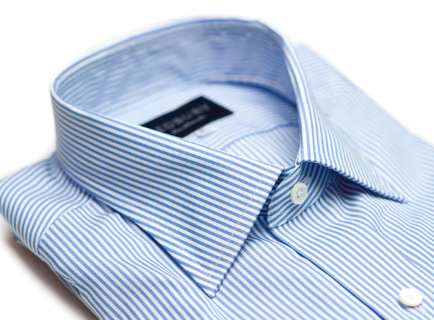 The Light Blue Bengal Slim Fit collar