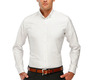 The White Oxford Slim Fit modelcrop
