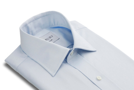 The Blue Fine Twill Worker Slim Fit collar