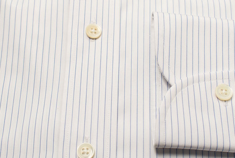 The White Pinstripe 120 Slim Fit singlecuff