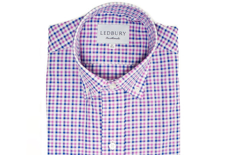 The Purple and Blue Marshall Chambray Slim Fit shirt