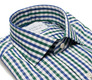 The Blue and Green Starks Gingham Slim Fit collar