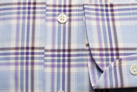 The Warsaw Plaid Slim Fit singlecuff