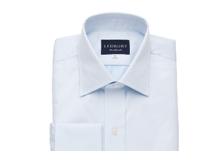 The Blue Fine Twill French Cuff shirt