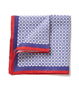 The Blue and Red McCabe Pocket Square