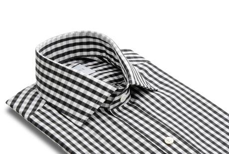 The Black Parker Gingham collar