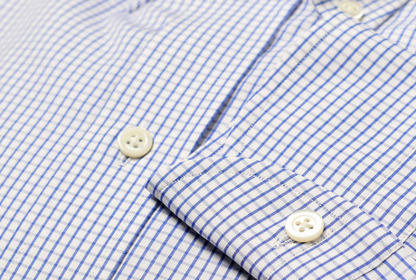 The Blue Box Check Button Down singlecuff
