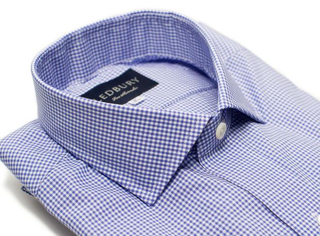 The Blue Cross Gingham Cutaway collar