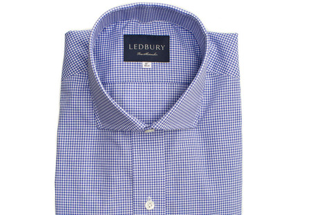 The Blue Cross Gingham Cutaway shirt