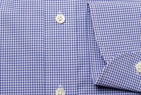 The Blue Cross Gingham Cutaway singlecuff