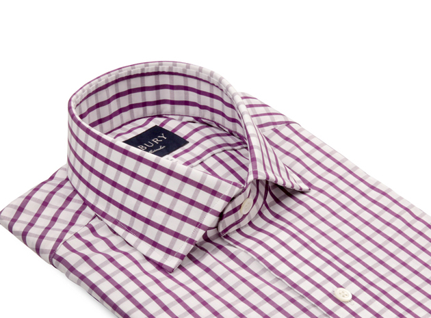 The Purple Urbana Box Check collar
