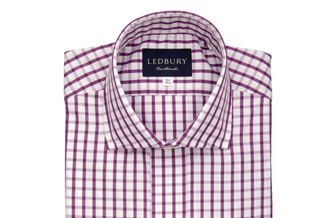 The Purple Urbana Box Check shirt