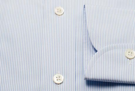 The Blue Thin Stripe 120 singlecuff