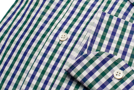 The Blue and Green Starks Gingham singlecuff