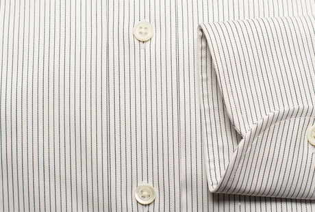 The Navy Henley Stripe Twill singlecuff