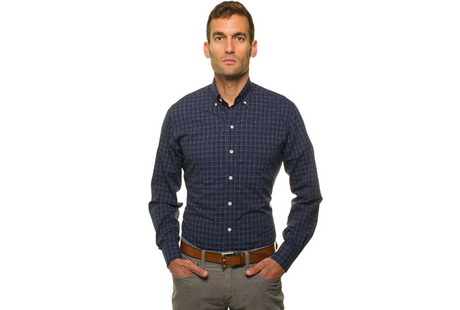 The Henderson Plaid modelcrop