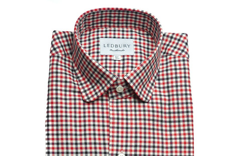 The Red and Black Roosevelt Slim Fit shirt