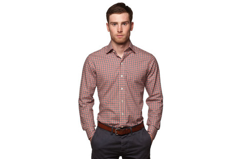 The Red and Black Roosevelt Slim Fit modelcrop