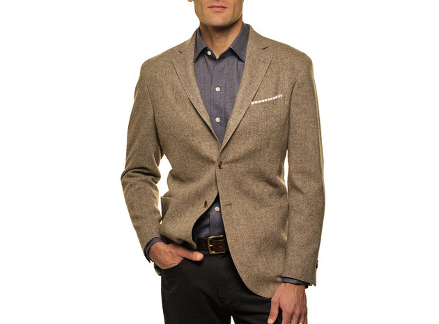 The Brown Huxley Sport Coat Slim Fit collar