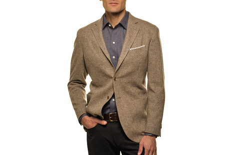 The Brown Huxley Sport Coat collar