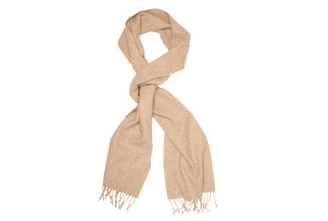 The Beige Camden Lambswool Scarf collar