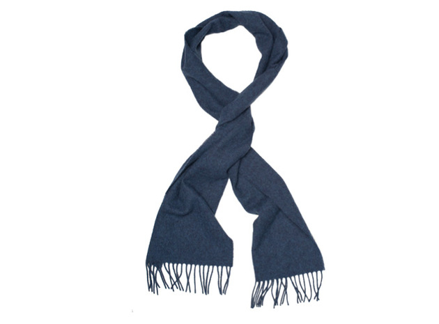 The Blue Camden Lambswool Scarf collar