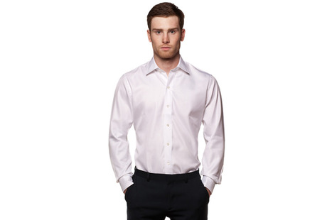 The White Royal Twill Worker modelcrop