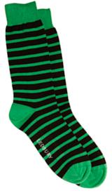 The Green Ainsley Stripe Sock