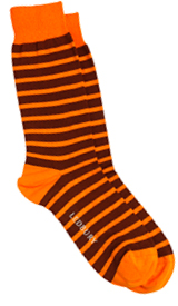 The Orange Ainsley Stripe Sock