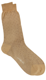 The Beige Beckett Micro Dot Sock