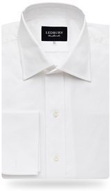 The White Fine Twill French Cuff Slim Fit