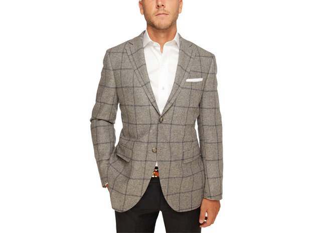 The Grey Chapman Windowpane Sport Coat
