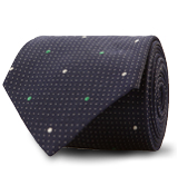 The Green Turner Pindot Tie